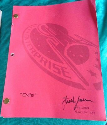 Star Trek Enterprise Stage Used Crew Script Exile