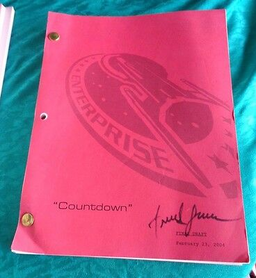 Star Trek Enterprise Stage Used Crew Script Countdown