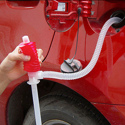 1xUniversal Car Manual Hand Siphon Pump Hose Gas Oil Liquid Syphon Transfer Pump