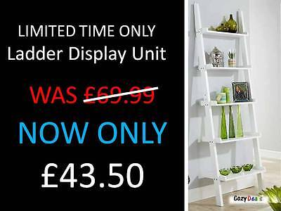 Cyprus 5 Tier Modern Contemporary Ladder Shelving Display Unit Bookcase