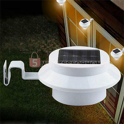 Outdoor Solar Powered 3 LED Security Landscape Garden Yard Fence Light Path Lamp