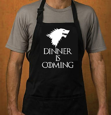 DINNER IS COMING APRON - Inspired by Game of Thrones Funny Joke Winter Christmas