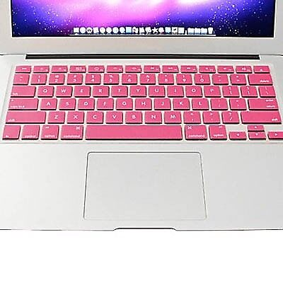 TECH Pink ENKAY Colorful Soft Silicon Keyboard Protector Cover Skin for MacBook