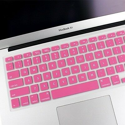 TECH Pink ENKAY Soft Silicone Keyboard Protector Cover Skin for MacBook Air 13.