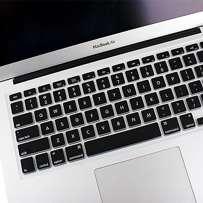 NUOVO Black ENKAY Soft Silicone Keyboard Protector Cover Skin for MacBook Air 1