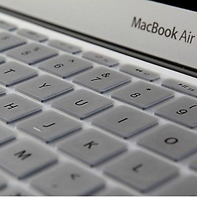 NUOVO Silver ENKAY Soft Silicone Keyboard Protector Cover Skin for MacBook Air