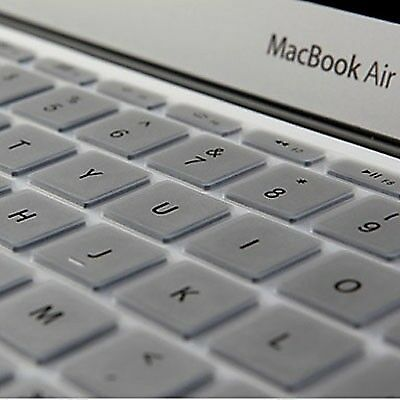 TECH Silver ENKAY Soft Silicone Keyboard Protector Cover Skin for MacBook Air 1