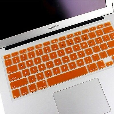 ELETTRONICA Orange ENKAY Soft Silicone Keyboard Protector Cover Skin for MacBoo