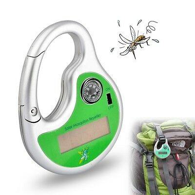 Solar Powered Portable Mosquito Insect Repellent Repeller Indoor/Camping Outdoor