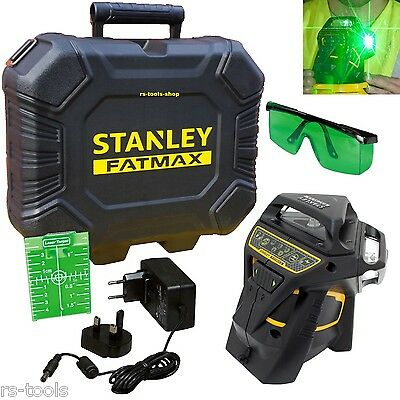 Stanley FatMax X3G green FMHT1-77356 3x 360° Multi line Laser Rotary Laser