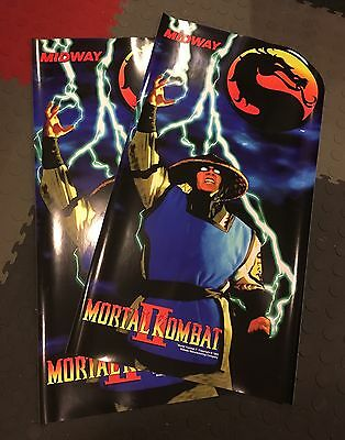 Mortal Kombat 2 Arcade Conversion Side Art Artwork MK2 Decal Overlay CPO Midway