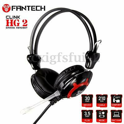 3.5mm Stereo Gaming Headset Headphone Earphone Microphone for PC Laptop Computer