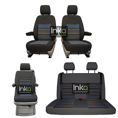 VW California Beach Inka Tailored Lifestyle Seat Covers Dark Grey Takato MY14+