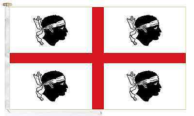Italy Sardinia Roped & Toggled 2 Yard Courtesy Boat Flag