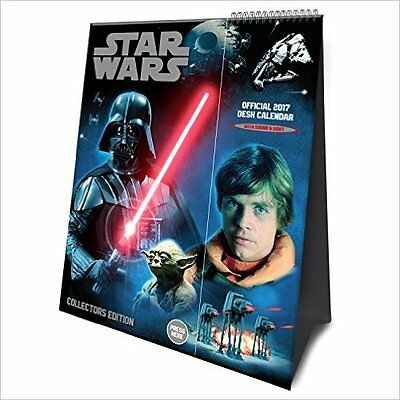 Star Wars Light and Sound Official 2017 Desk Easel Calendar NEW