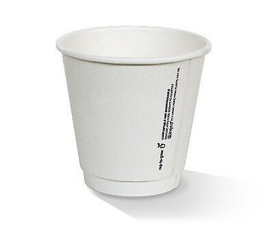 NEW  *8oz PLA coated DW Cup /one-lid-fits-all