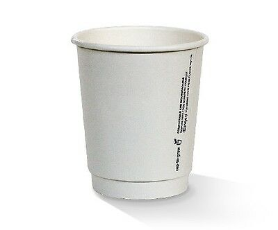 NEW  8oz PLA coated DW Cup / plain white / standard