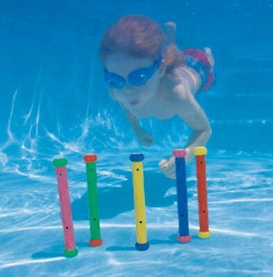 Underwater Multi Colour Swim Swimming Pool Diving Ring Stick Ball Fun Toys Play