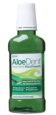 ALOE DENT Mouthwash Mint with Aloe Vera & Tea Tree  Alcohol Free  250ml