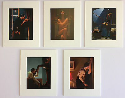 "'The Erotic Selection' by Jack Vettriano Set of 5 Mounted Art Prints 10"" x 8"""