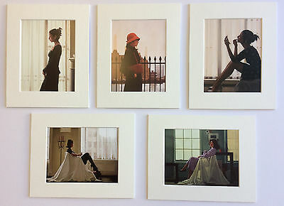 """The 'Thoughts' Selection by Jack Vettriano Set of 5 Mounted Art Prints 10"""" x 8"""""""