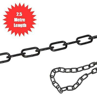 4Mm X 2.5 Metre Black Japanned Chain Decorative For Garden Patio Qa53