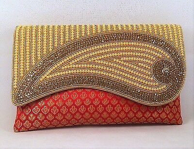 Indian Bridal Wedding Purse Evening Party Bag Clutch Prom