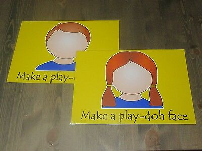 Play-Doh - Make Your Own Face Play Doh Mat - A4 Laminated - Children's Game