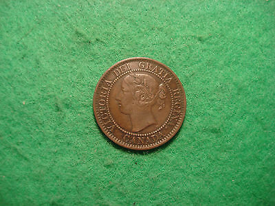 Canada 1859 1 Large cent  Victoria Nice detail D84