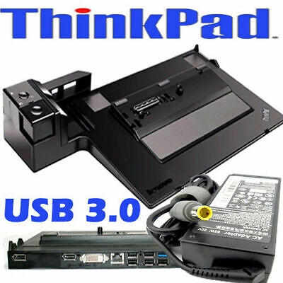 Lenovo ThinkPad Mini Dock Serien 3 Type 4337 USB 3.0 T430, T520 W510 + 90W AC