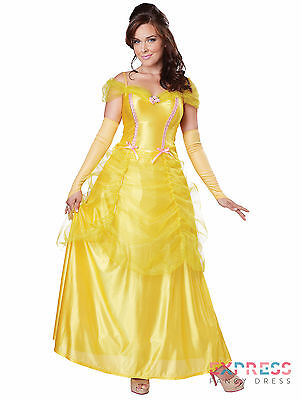Belle Beauty and the Beast Princess Gold Fairytale Fancy Dress Costume 6-16