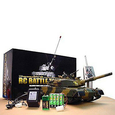 M1A2 Abrams Remote Control RC Battle Tank Airsoft Military Vechile with Sound