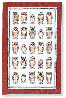OWL LINEN TEA TOWEL by ULSTER WEAVERS - OWLS ARRIVED -  GOOD QUALITY GIFT