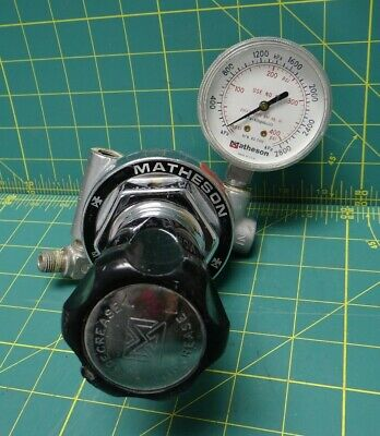 Matheson 19-S 590 Stainless Steel Gas Regulator With Shut-Off Valve