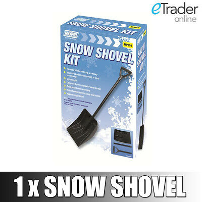 Bluecol Metal Winter Snow Shovel Compact & Foldable  Spade Car Van Travel New