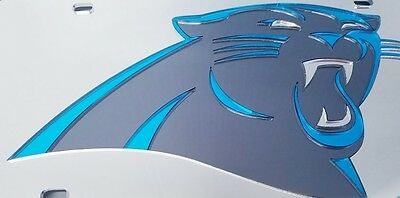 CAROLINA PANTHERS Head  Teal Outline  Laser Acrylic Mirror Sport Room Also