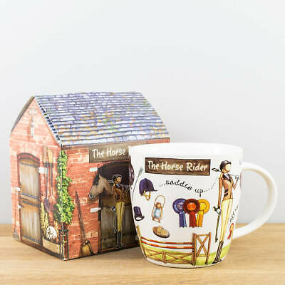 New Churchill China At Your Leisure The Horse Rider Equestrian Gift Boxed Mug
