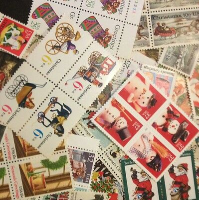 $7.00 face CHRISTMAS Stamps 4 Cent to FOREVER Dress Up Your Holiday Mail