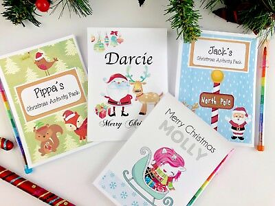 Personalised Christmas Eve Gift Box Activity Pack Book Stocking Filler