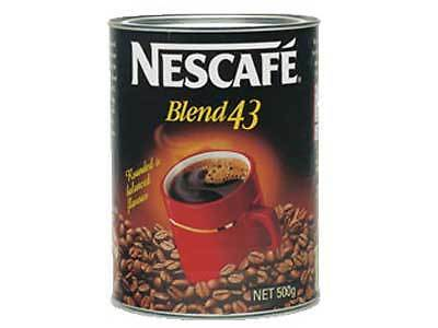 NEW  Nescafe Blend 43 coffee 500g can