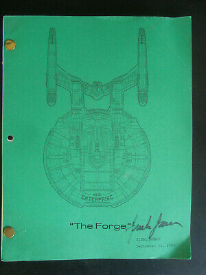 Star Trek Enterprise Stage Used Crew Script The Forge