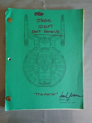 Star Trek Enterprise Stage Used Crew Script The Aenar AD Stage 18