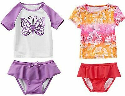 Crazy 8 by Gymboree Toddler Girl Swim 2 pc Swimsuit UPF 50+ NWT 2T 5T Cute!