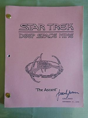 Star Trek Deep Space Nine Stage Used Crew Script The Ascent