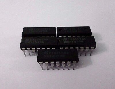 NATIONAL SEMI DM74H74N IC Integrated Circuit 14Pin - Lot of 5 Pcs NEW NO PKG
