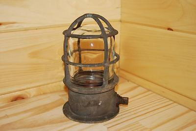 Vintage Antique R&S CO NY Brass Industrial Light Nautical Maritime Boat Lamp