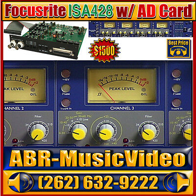 Focusrite ISA 428 with included ISA A/D 192kHz CARD up to 8 Channels Digital I/O