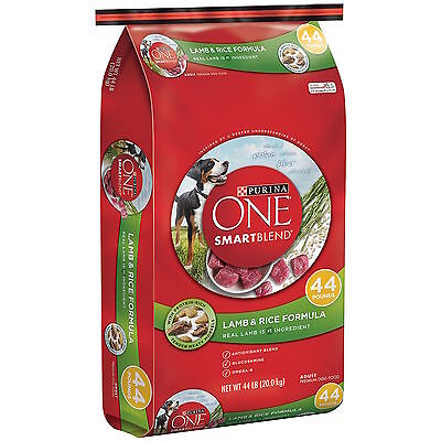 Purina ONE Dog Food, Lamb & Rice (44 lbs.) Healthy Skin and Coat Supplement