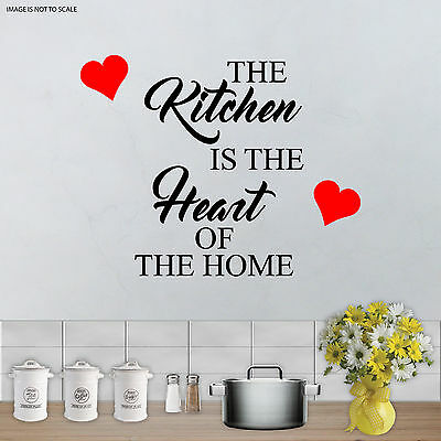 The Kitchen Is The Heart Of The Home Quote Wall Art Vinyl Sticker Decal