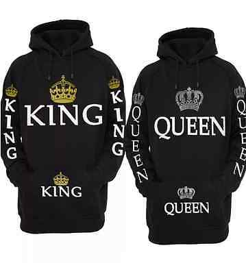 King & Queen Hoodie Sweatshirt Couple Hooded Sweatshirt